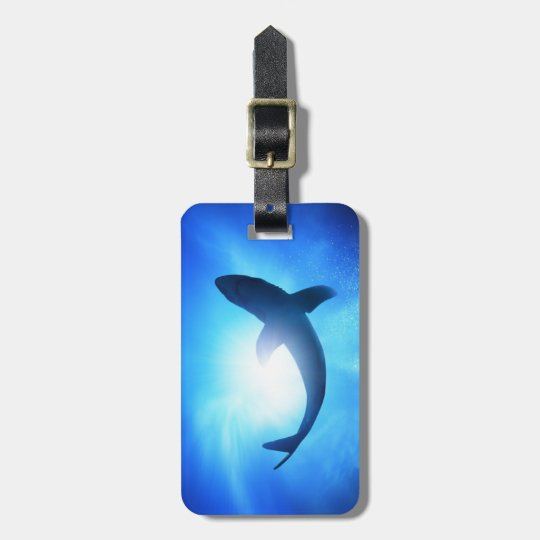 Deep Ocean Shark Silhouette Luggage Tag
