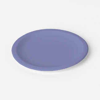 Deep Periwinkle 7 Inch Paper Plate