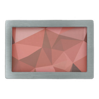 Deep Pink Abstract Low Polygon Background Belt Buckle