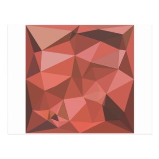 Deep Pink Abstract Low Polygon Background Postcard
