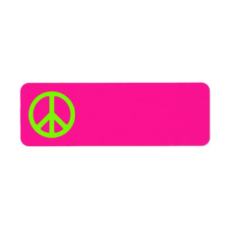 Deep Pink and Chartreuse Peace Symbol