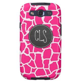 Deep Pink Giraffe Animal Print; Chalkboard Galaxy S3 Covers