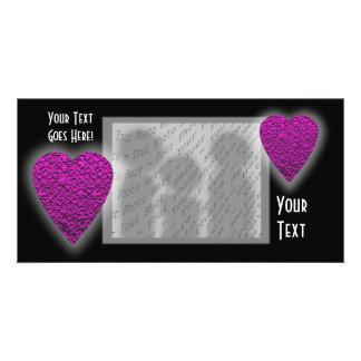 Deep Pink Heart. Patterned Heart Design. Photo Cards