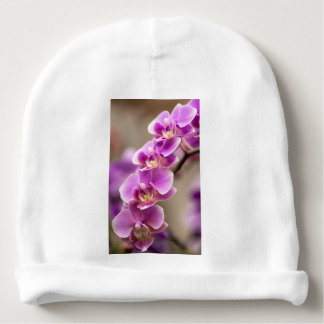 Deep Pink Phalaenopsis Orchid Flower Chain Baby Beanie