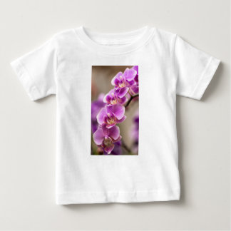 Deep Pink Phalaenopsis Orchid Flower Chain Baby T-Shirt