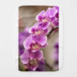 Deep Pink Phalaenopsis Orchid Flower Chain Burp Cloth