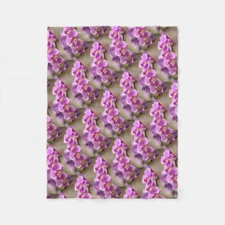 Deep Pink Phalaenopsis Orchid Flower Chain Fleece Blanket
