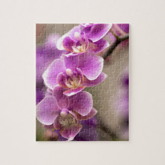 Deep Pink Phalaenopsis Orchid Flower Chain Jigsaw Puzzle