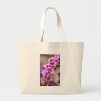 Deep Pink Phalaenopsis Orchid Flower Chain Large Tote Bag