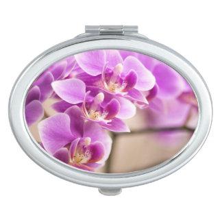 Deep Pink Phalaenopsis Orchid Flower Chain Makeup Mirror