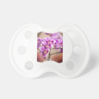 Deep Pink Phalaenopsis Orchid Flower Chain Pacifier