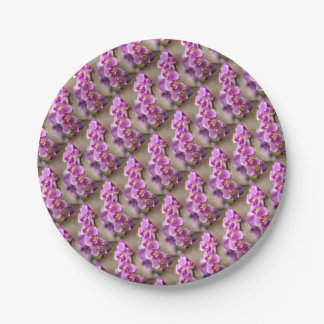 Deep Pink Phalaenopsis Orchid Flower Chain Paper Plate