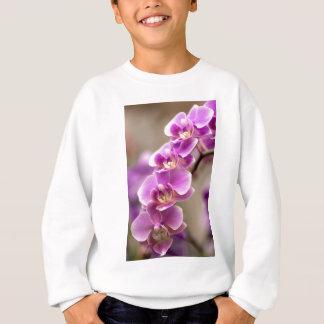 Deep Pink Phalaenopsis Orchid Flower Chain Sweatshirt