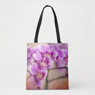 Deep Pink Phalaenopsis Orchid Flower Chain Tote Bag