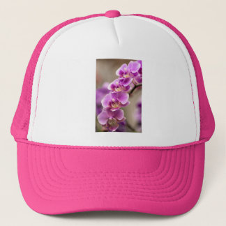 Deep Pink Phalaenopsis Orchid Flower Chain Trucker Hat