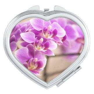 Deep Pink Phalaenopsis Orchid Flower Chain Vanity Mirror