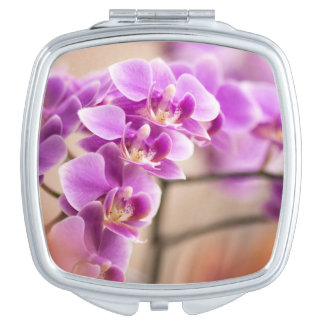 Deep Pink Phalaenopsis Orchid Flower Chain Vanity Mirrors