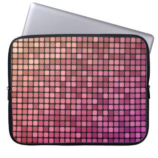 Deep Pink Pixel Art Laptop Sleeve