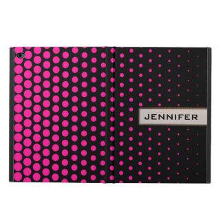 Deep Pink Polka Dot Modern Black