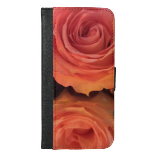 Deep Pink Rose Phone Wallet Design