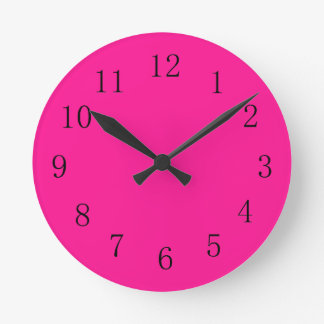 Deep Pink Round (Medium) Wall Clock