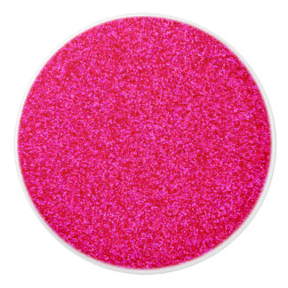 Deep Pink Sparkly Bits Ceramic Knob