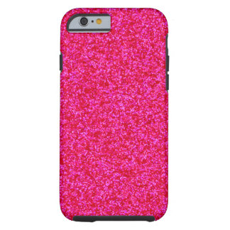 Deep Pink Sparkly Bits Tough iPhone 6 Case