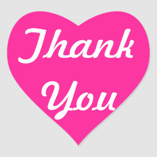 Deep Pink Thank You Stickers