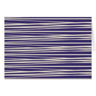 Deep Purple and White Stripes Pattern Gifts Card