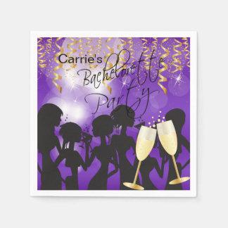 Deep Purple Bachelorette Party Disposable Napkins