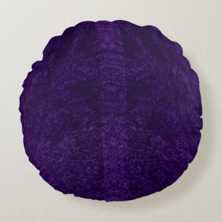 Deep Purple Decor Collection Round Pillow