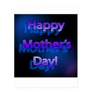 Deep Purple Happy Mother's Day Design Postcard