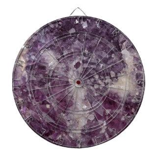 Deep Purple Quartz Crystal Dart Board