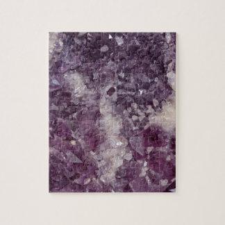 Deep Purple Quartz Crystal Jigsaw Puzzle
