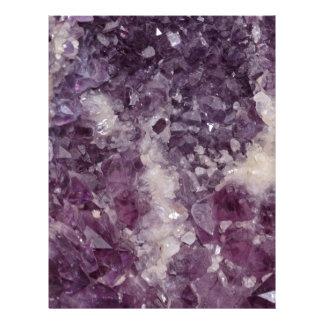 Deep Purple Quartz Crystal Letterhead