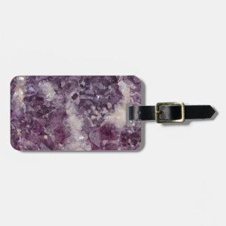 Deep Purple Quartz Crystal Luggage Tag