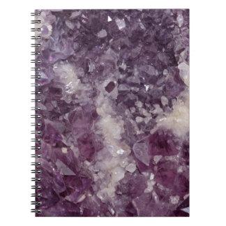 Deep Purple Quartz Crystal Notebooks