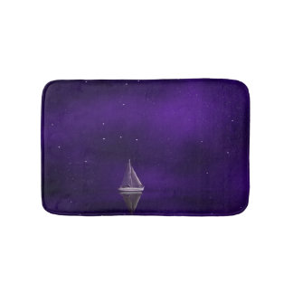 Deep Purple Sailboat Bath Mat