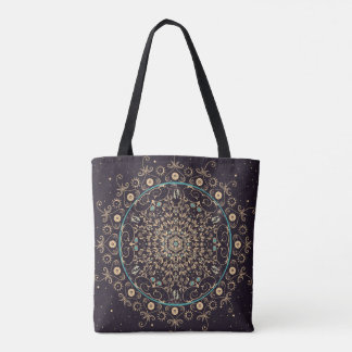 Deep Purple Sky  Mandala Bag