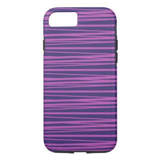 Deep Purple Stripes Pattern iPhone 7 Case