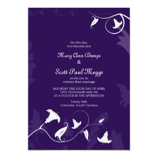 Deep Purple with white Lillies Card