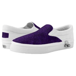 Deep purple Zipz Slip on Shoes