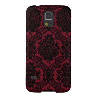 Deep red and black damask. galaxy s5 case