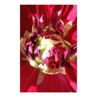 deep red bloom customized stationery