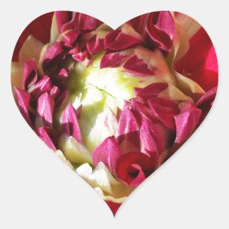 deep red bloom heart sticker