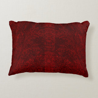 Deep Red - Brushed Polyester Accent Pillow