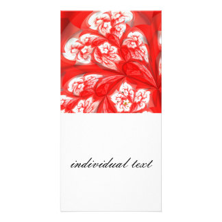 deep red fractal flowers (A) Photo Cards