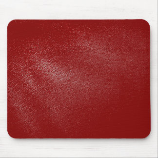 Deep Red Leather Look Mouse Pad