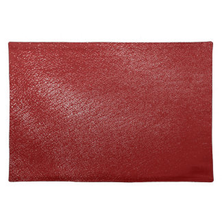 Deep Red Leather Look Placemat