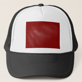 Deep Red Leather Look Trucker Hat